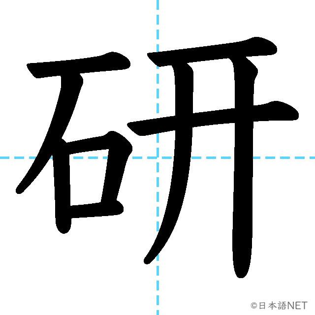 【JLPT N4漢字】「研」の意味・読み方・書き順