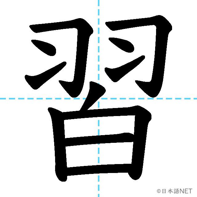 【JLPT N4漢字】「習」の意味・読み方・書き順