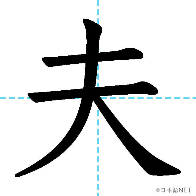 【JLPT N3漢字】「夫」の意味・読み方・書き順