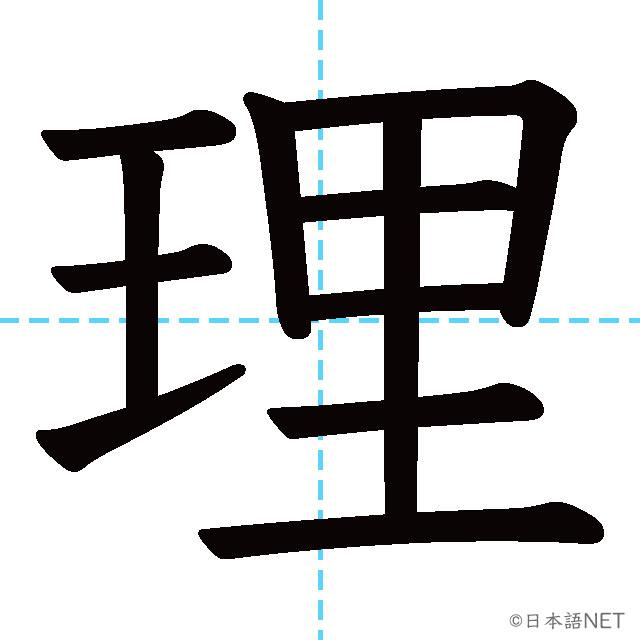 【JLPT N4漢字】「理」の意味・読み方・書き順