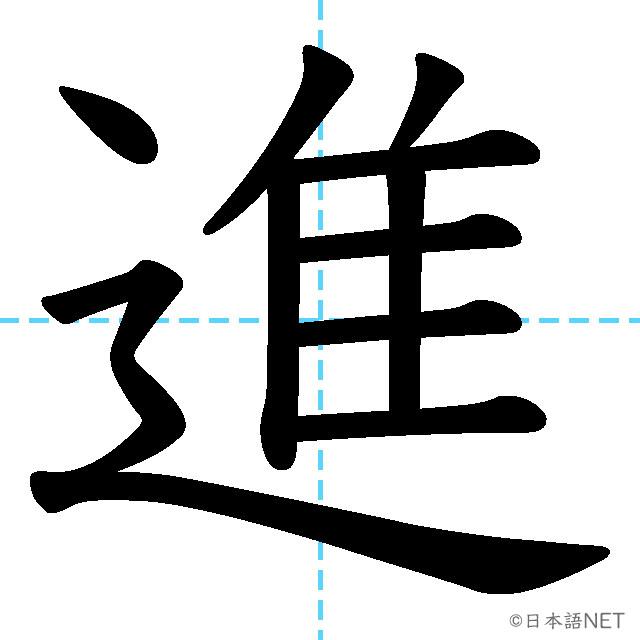 【JLPT N4漢字】「進」の意味・読み方・書き順
