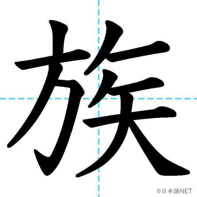 【JLPT N4漢字】「族」の意味・読み方・書き順