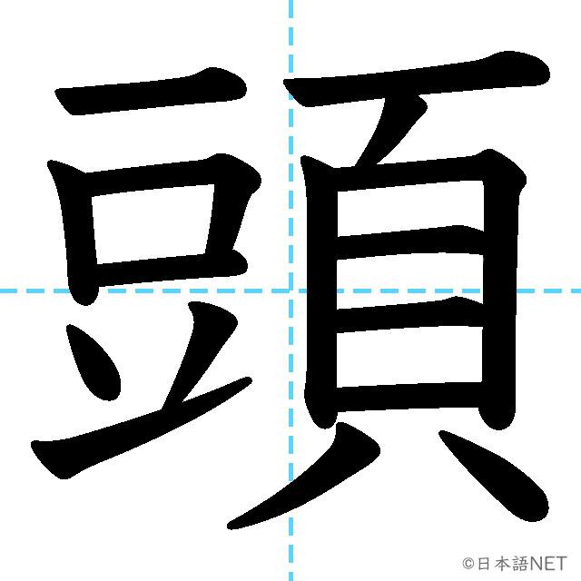 【JLPT N4漢字】「頭」の意味・読み方・書き順