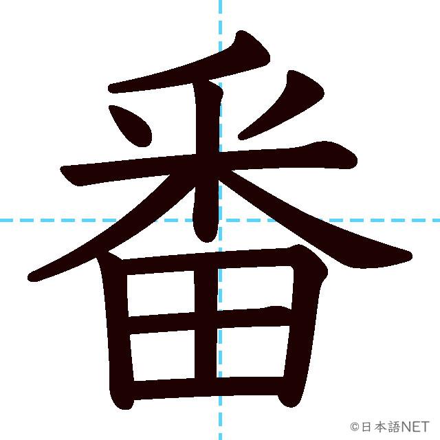 【JLPT N4漢字】「番」の意味・読み方・書き順