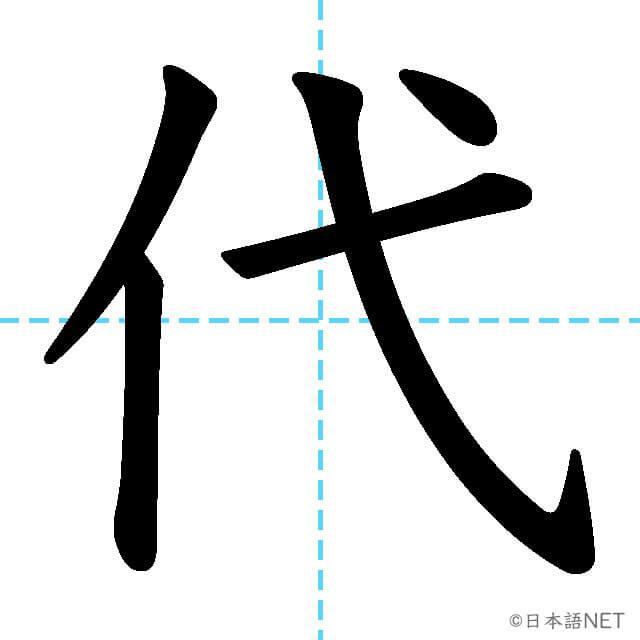 【JLPT N4漢字】「代」の意味・読み方・書き順