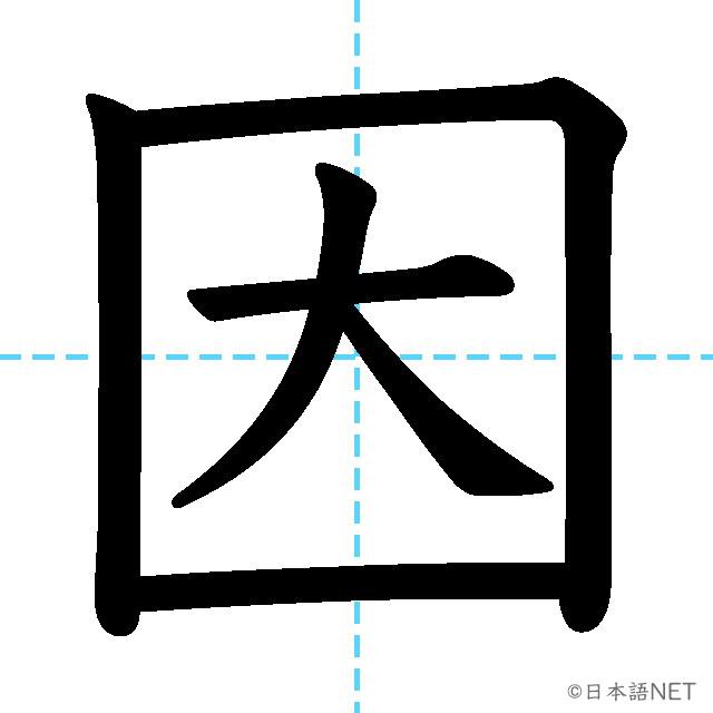 【JLPT N3漢字】「因」の意味・読み方・書き順