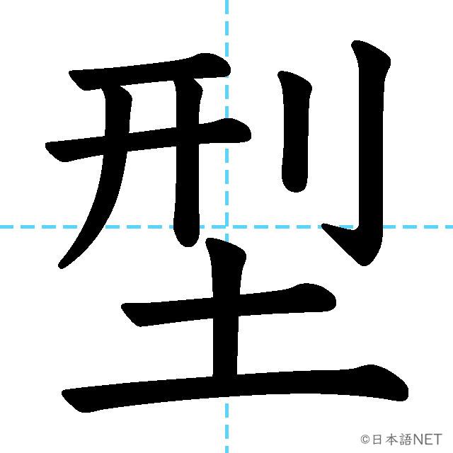【JLPT N3漢字】「型」の意味・読み方・書き順