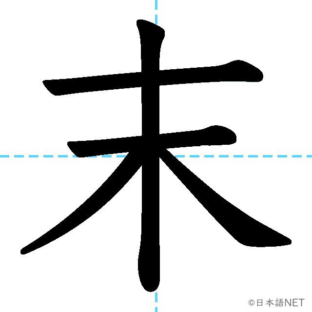 【JLPT N3漢字】「末」の意味・読み方・書き順
