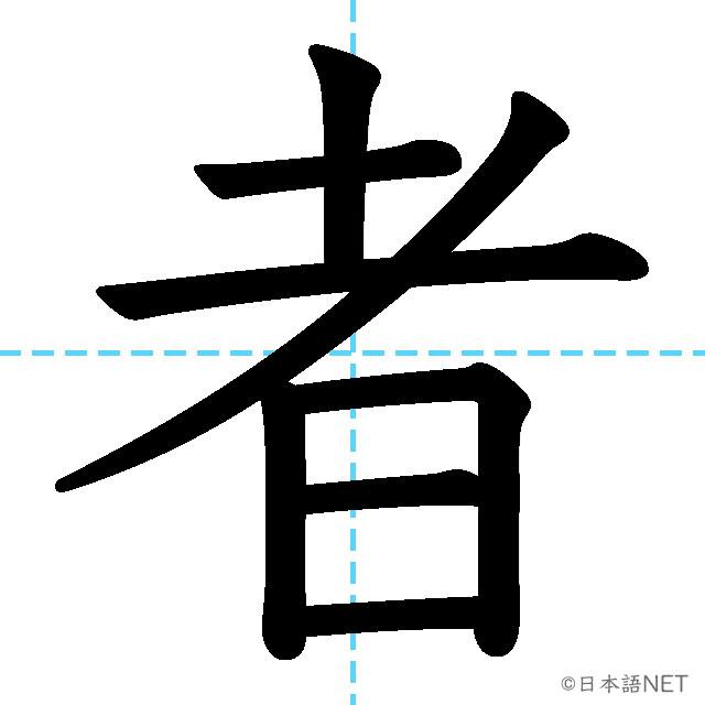 【JLPT N4漢字】「者」の意味・読み方・書き順