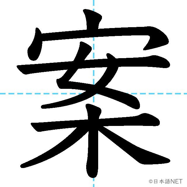 【JLPT N3漢字】「案」の意味・読み方・書き順