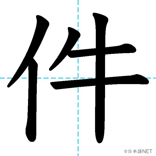 【JLPT N3漢字】「件」の意味・読み方・書き順