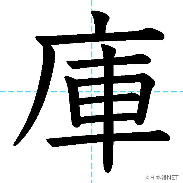 【JLPT N3漢字】「庫」の意味・読み方・書き順