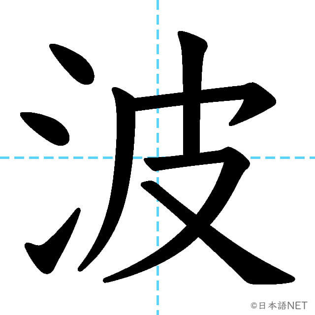 【JLPT N3漢字】「波」の意味・読み方・書き順