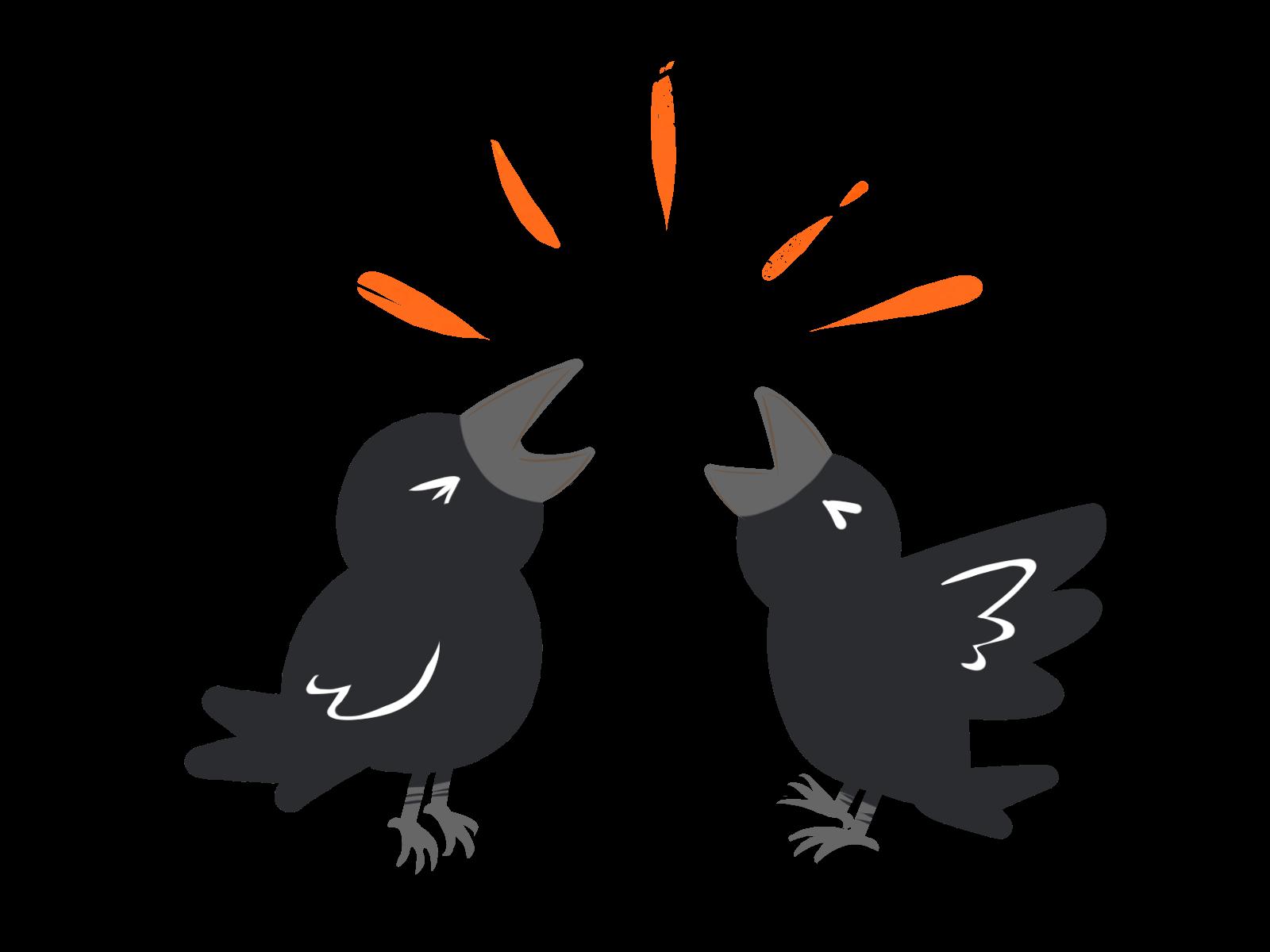 【オノマトペ】カーカーの意味と例文