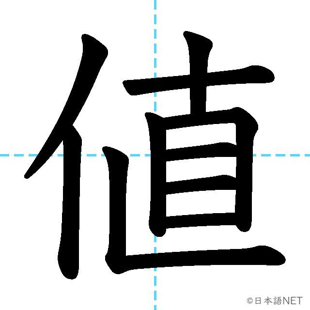 【JLPT N3漢字】「値」の意味・読み方・書き順