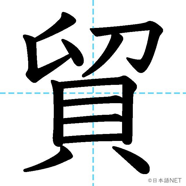 【JLPT N3漢字】「貿」の意味・読み方・書き順