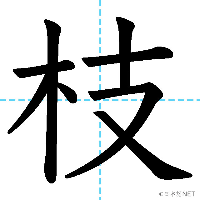 【JLPT N2漢字】「枝」の意味・読み方・書き順