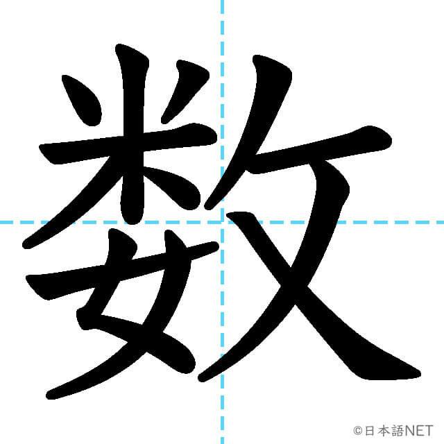 【JLPT N3漢字】「数」の意味・読み方・書き順