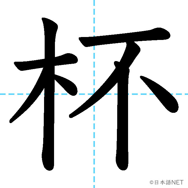 【JLPT N2漢字】「杯」の意味・読み方・書き順