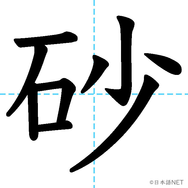 【JLPT N3漢字】「砂」の意味・読み方・書き順