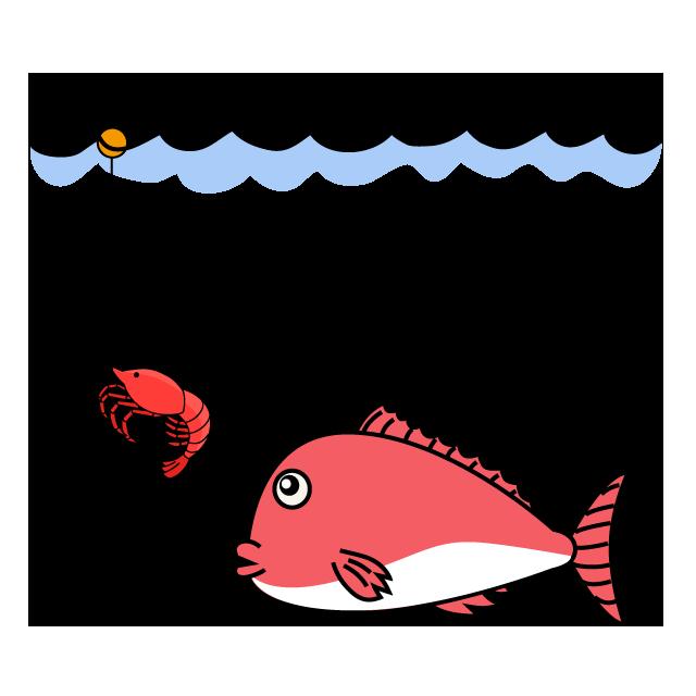 【故事・ことわざ】海老で鯛を釣る(えびでたいをつる)
