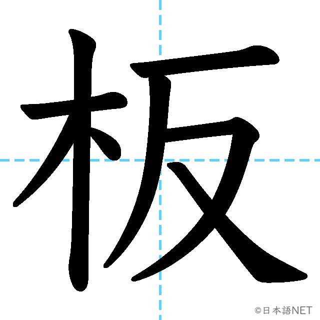 【JLPT N2漢字】「板」の意味・読み方・書き順