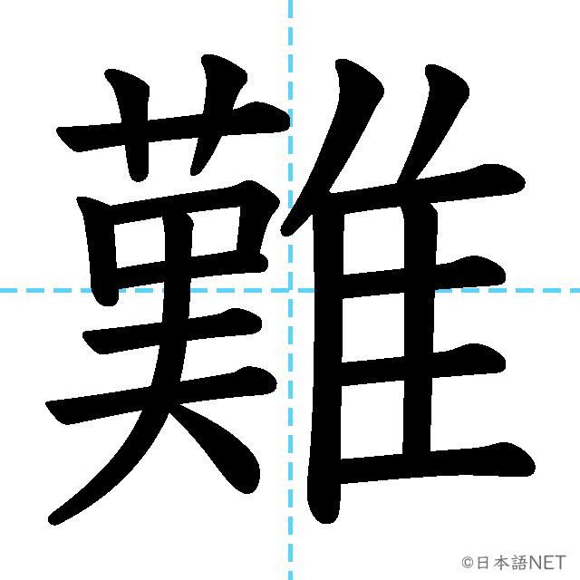 【JLPT N3漢字】「難」の意味・読み方・書き順
