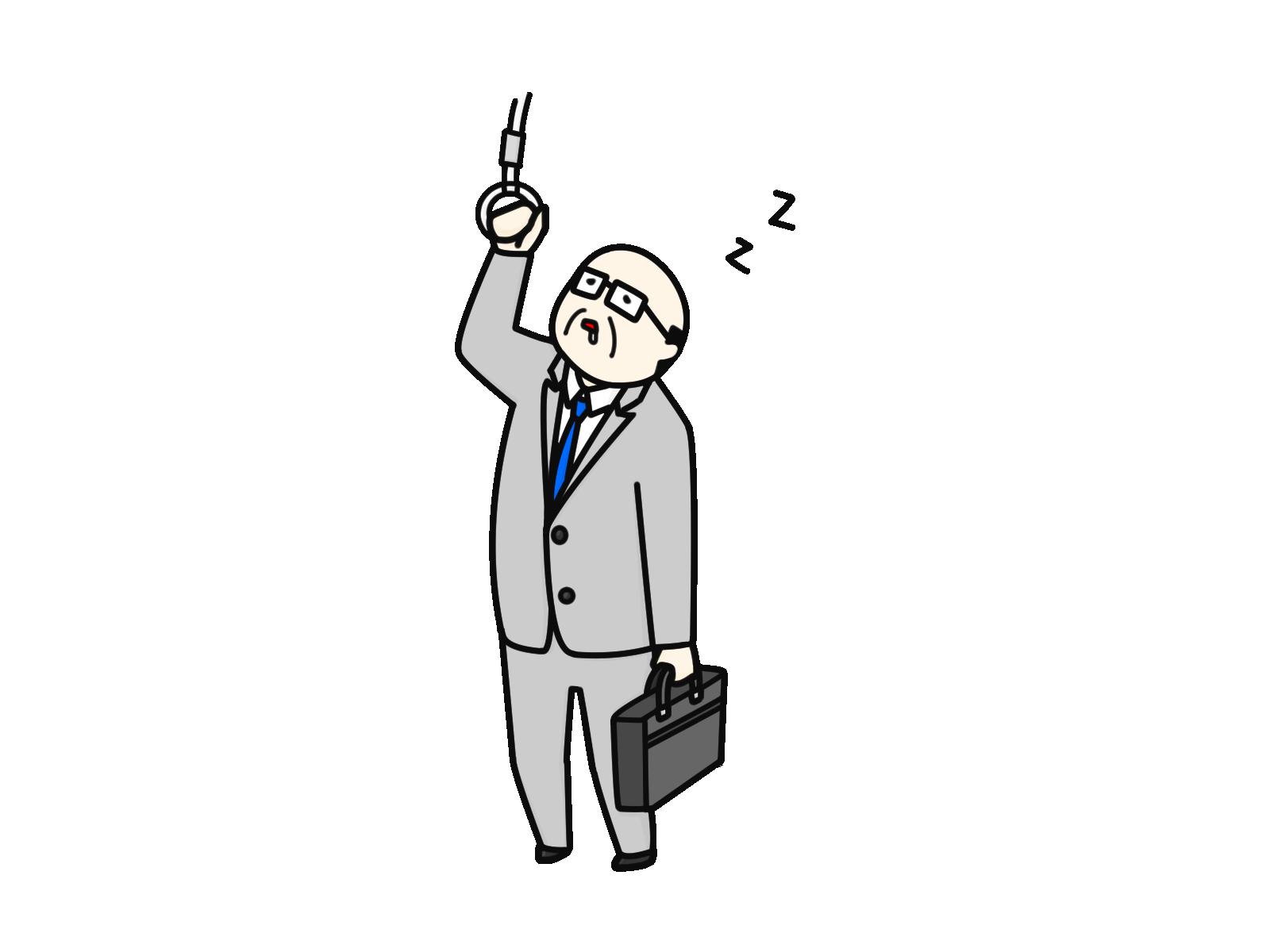 オノマトペ 「うとうと」のイラスト
