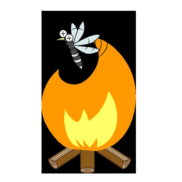 【故事・ことわざ】飛んで火に入る夏の虫(とんでひにいるなつのむし)