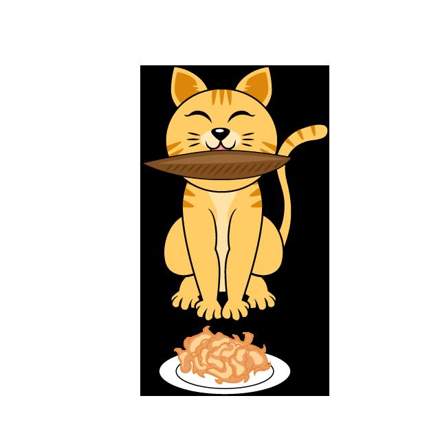 【故事・ことわざ】猫に鰹節(ねこにかつおぶし)