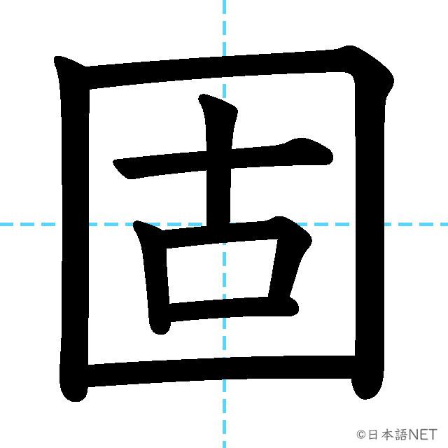 【JLPT N2漢字】「固」の意味・読み方・書き順