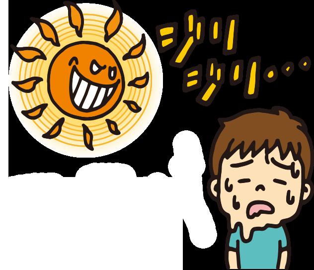 【オノマトペ】ジリジリの意味と例文