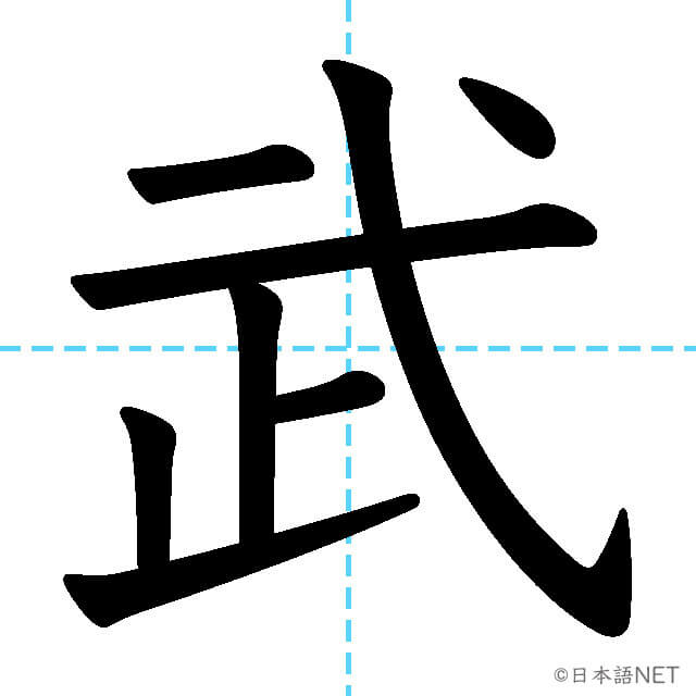 【JLPT N2漢字】「武」の意味・読み方・書き順