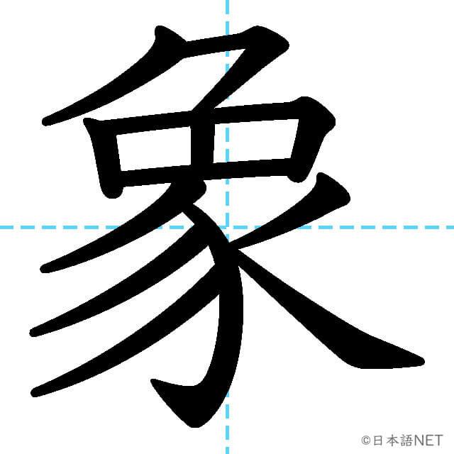 【JLPT N2漢字】「象」の意味・読み方・書き順