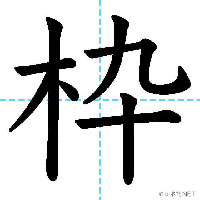 【JLPT N1漢字】「枠」の意味・読み方・書き順