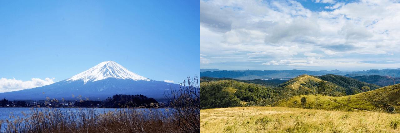 【語彙】「山」と「丘」の違い・使い分け