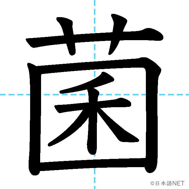 【JLPT N1漢字】「菌」の意味・読み方・書き順