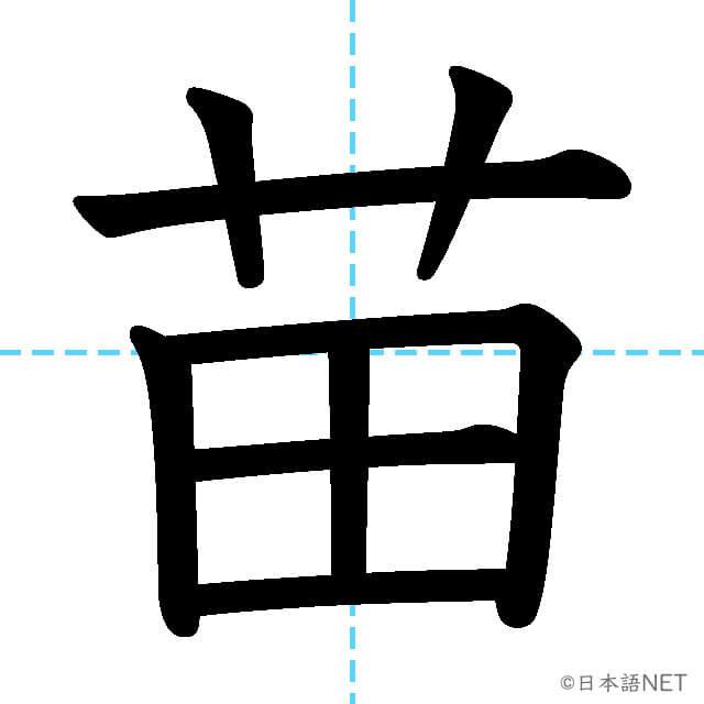 【JLPT N1漢字】「苗」の意味・読み方・書き順
