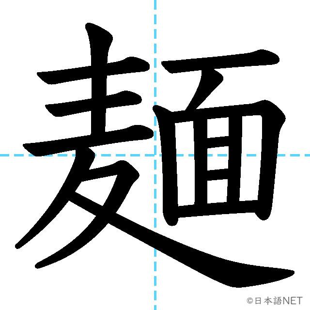 【JLPT N1漢字】「麺」の意味・読み方・書き順