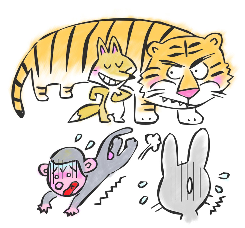 【故事・ことわざ】虎の威を借る狐(とらのいをかるきつね)の意味・例文